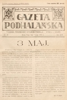 Gazeta Podhalańska : tygodnik poświęcony sprawom Podhala, Spisza, Orawy. 1931, nr18
