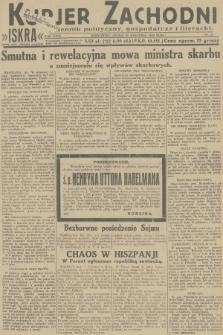 Kurjer Zachodni Iskra : dziennik polityczny, gospodarczy i literacki. R.23, 1932, nr21