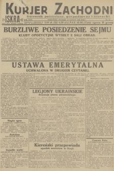 Kurjer Zachodni Iskra : dziennik polityczny, gospodarczy i literacki. R.23, 1932, nr43