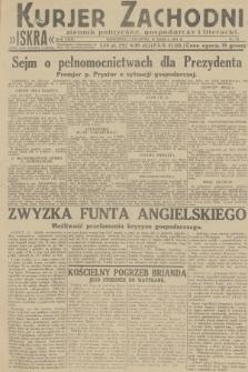 Kurjer Zachodni Iskra : dziennik polityczny, gospodarczy i literacki. R.23, 1932, nr57