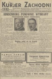 Kurjer Zachodni Iskra : dziennik polityczny, gospodarczy i literacki. R.23, 1932, nr83