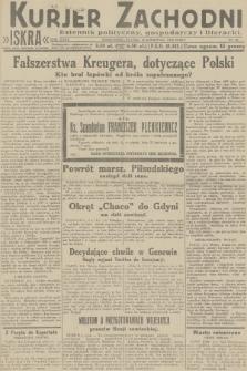 Kurjer Zachodni Iskra : dziennik polityczny, gospodarczy i literacki. R.23, 1932, nr92