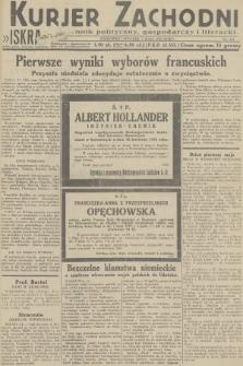 Kurjer Zachodni Iskra : dziennik polityczny, gospodarczy i literacki. R.23, 1932, nr101