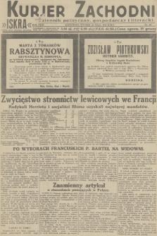 Kurjer Zachodni Iskra : dziennik polityczny, gospodarczy i literacki. R.23, 1932, nr107
