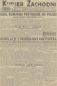Kurjer Zachodni Iskra : dziennik polityczny, gospodarczy i literacki. R.23, 1932, nr133