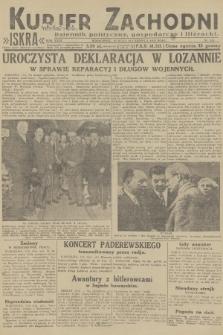 Kurjer Zachodni Iskra : dziennik polityczny, gospodarczy i literacki. R.23, 1932, nr141