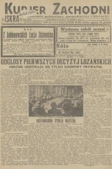 Kurjer Zachodni Iskra : dziennik polityczny, gospodarczy i literacki. R.23, 1932, nr142
