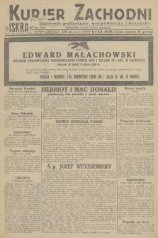 Kurjer Zachodni Iskra : dziennik polityczny, gospodarczy i literacki. R.23, 1932, nr157