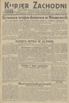 Kurjer Zachodni Iskra : dziennik polityczny, gospodarczy i literacki. R.23, 1932, nr166