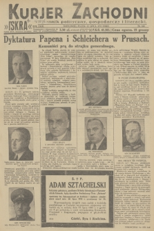 Kurjer Zachodni Iskra : dziennik polityczny, gospodarczy i literacki. R.23, 1932, nr169