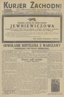 Kurjer Zachodni Iskra : dziennik polityczny, gospodarczy i literacki. R.23, 1932, nr181