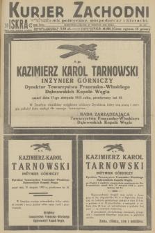 Kurjer Zachodni Iskra : dziennik polityczny, gospodarczy i literacki. R.23, 1932, nr193