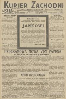 Kurjer Zachodni Iskra : dziennik polityczny, gospodarczy i literacki. R.23, 1932, nr202