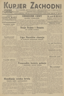 Kurjer Zachodni Iskra : dziennik polityczny, gospodarczy i literacki. R.23, 1932, nr230