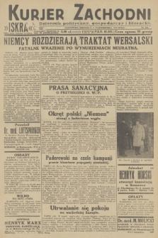 Kurjer Zachodni Iskra : dziennik polityczny, gospodarczy i literacki. R.23, 1932, nr231