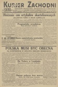 Kurjer Zachodni Iskra : dziennik polityczny, gospodarczy i literacki. R.23, 1932, nr234
