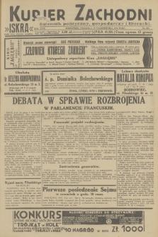 Kurjer Zachodni Iskra : dziennik polityczny, gospodarczy i literacki. R.23, 1932, nr255