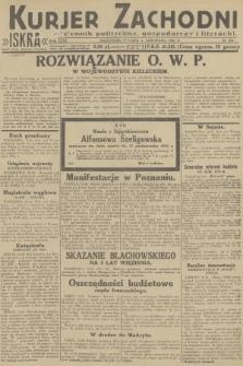Kurjer Zachodni Iskra : dziennik polityczny, gospodarczy i literacki. R.23, 1932, nr256