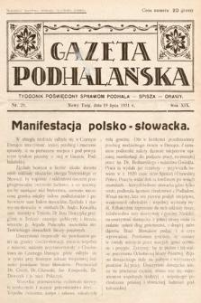 Gazeta Podhalańska : tygodnik poświęcony sprawom Podhala, Spisza, Orawy. 1931, nr29