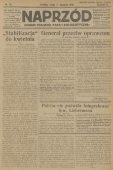 Naprzód : organ Polskiej Partji Socjalistycznej. 1931, nr10
