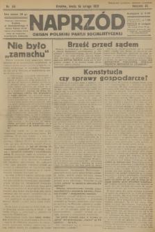 Naprzód : organ Polskiej Partji Socjalistycznej. 1931, nr39
