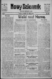 Nowy Dziennik. 1918 , nr22