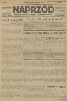 Naprzód : organ Polskiej Partji Socjalistycznej. 1931, nr77