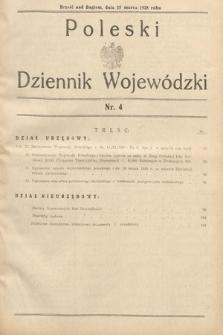 Poleski Dziennik Wojewódzki. 1938, nr4