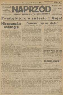 Naprzód : organ Polskiej Partji Socjalistycznej. 1931, nr87
