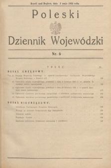 Poleski Dziennik Wojewódzki. 1938, nr6