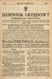 Dziennik Urzędowy Województwa Kieleckiego. 1920, nr4
