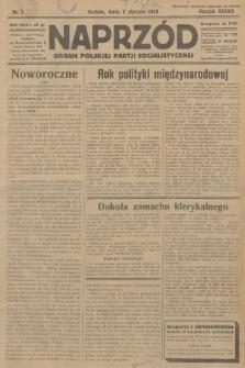 Naprzód : organ Polskiej Partji Socjalistycznej. 1929, nr1
