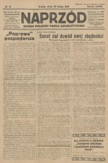 Naprzód : organ Polskiej Partji Socjalistycznej. 1929, nr41