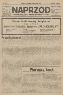 Naprzód : organ Polskiej Partji Socjalistycznej. 1929, nr72