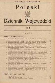 Poleski Dziennik Wojewódzki. 1938, nr11