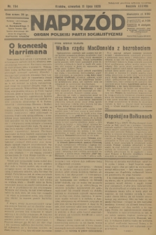 Naprzód : organ Polskiej Partji Socjalistycznej. 1929, nr154