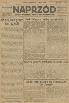 Naprzód : organ Polskiej Partji Socjalistycznej. 1929, nr170