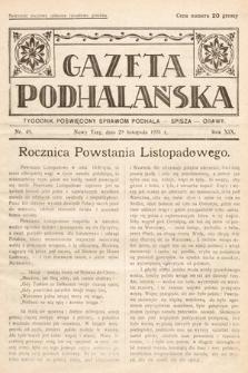 Gazeta Podhalańska : tygodnik poświęcony sprawom Podhala, Spisza, Orawy. 1931, nr48