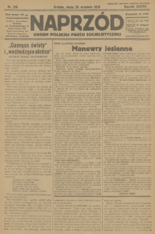 Naprzód : organ Polskiej Partji Socjalistycznej. 1929, nr218