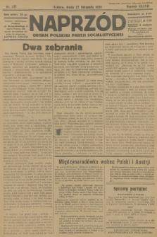 Naprzód : organ Polskiej Partji Socjalistycznej. 1929, nr271