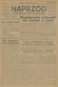 Naprzód : organ Polskiej Partji Socjalistycznej. 1929, nr275
