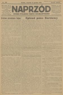 Naprzód : organ Polskiej Partji Socjalistycznej. 1929, nr290