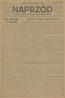 Naprzód : organ Polskiej Partji Socjalistycznej. 1929, nr293