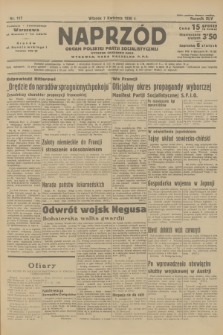 Naprzód : organ Polskiej Partji Socjalistycznej. 1936, nr117