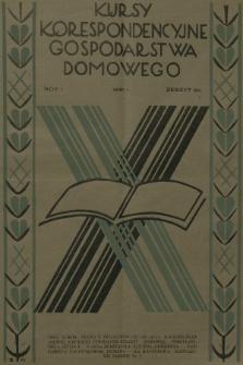 Kursy Korespondencyjne Gospodarstwa Domowego. R.1, 1931, Zeszyt20