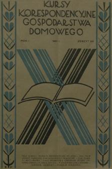 Kursy Korespondencyjne Gospodarstwa Domowego. R.1, 1931, Zeszyt23