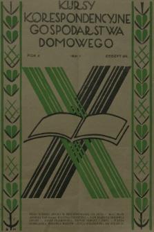Kursy Korespondencyjne Gospodarstwa Domowego. R.2, 1931, Zeszyt29