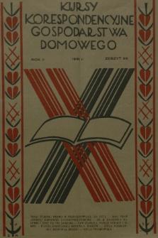 Kursy Korespondencyjne Gospodarstwa Domowego. R.2, 1931, Zeszyt30