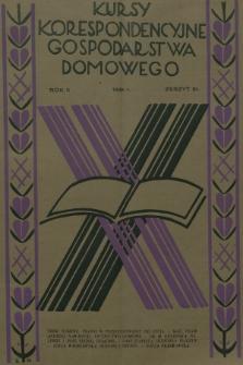 Kursy Korespondencyjne Gospodarstwa Domowego. R.2, 1931, Zeszyt31