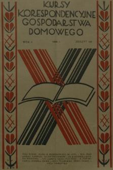 Kursy Korespondencyjne Gospodarstwa Domowego. R.2, 1931, Zeszyt32